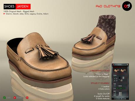 A&D Clothing - Shoes -Jayden- Tan