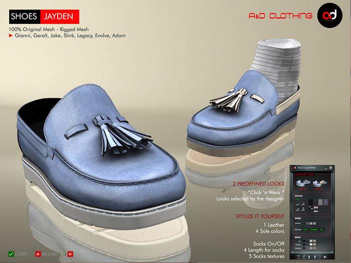 A&D Clothing - Shoes -Jayden- Blue