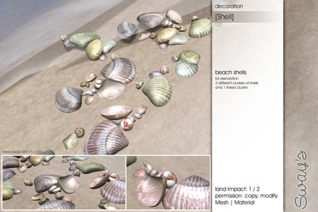 Sway's [Shell] Beach Shells decoration