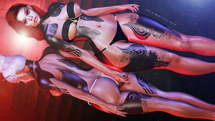 THIS IS WRONG Inferis shine+tattoo ONYX - female pack