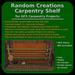 Random Creations Carpentry Shelf for DFS