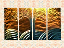 Split Canvas Wall Art Alpha Decal, Tree Eternal Life Golden Sky, copy/mod 1 prim hanging decor image both sides! Resize!