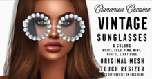 [Cinnamon Cocaine] Vintage - Sunglasses HUD (add & touch)