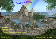 Pond with Ducks By Alzahra Ames