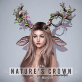 Nature's Crown - Ornamented by Sweet Thing. Antlers for faun, deer, forest fairy, satyr, nymph, eladrin, dryad, druid..