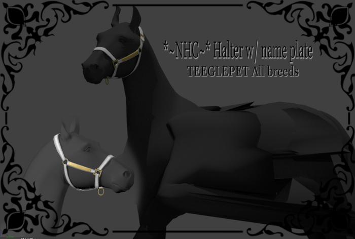 *~NHC~* Halter w/ nameplate All breeds