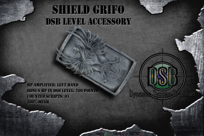 DSB LEVEL  SHIELD GRIFO - ACCESSORY  v1.1 BOX