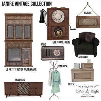 Serenity Style- Janire Vintage Sideboard