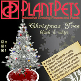 PlantPet Seed [Christmas Tree *Black and White*]