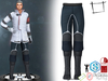 Full Perm Sci-fi Pants With Boots Slink Male, Belleza Jake, Signature Gianni