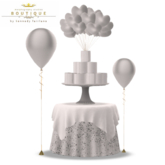 Birthday Rez Day Bridal or Bachelor TOILET PAPER CAKE & Table WHITE (BOXED)