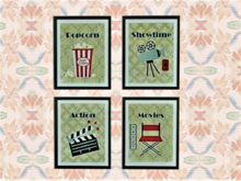 Group Pictures Wall Art Alpha Decal, Popcorn Movie Night Copy/Mod 1 prim hanging Home Decor, image 2 sides, Edit Resize!