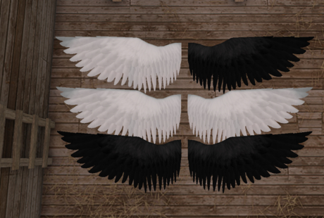 TeeglePet Pegasus B&W Wings