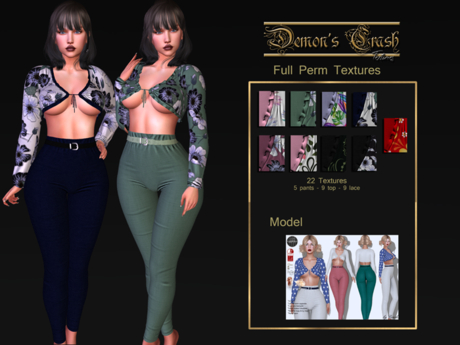 [DC] Textures - byCrash Full perm mesh-High waist pant - add