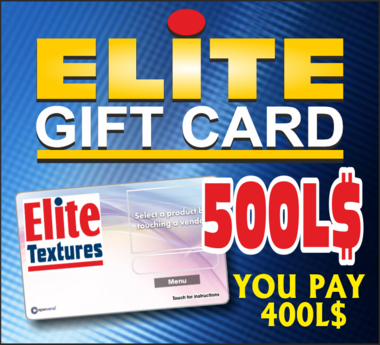 ELITE GIFT CARD 500 (REZ TO ACTIVATE) DISCOUNT 20%