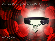 ~Leather Padlocked Collar - Black~
