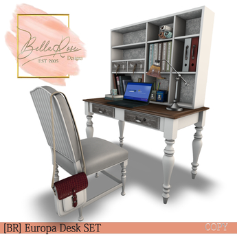 Second Life Marketplace Br Europa Desk Set