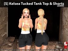 [S] Kelsea Tucked Tank Top & Shorts Leaves