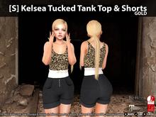 [S] Kelsea Tucked Tank Top & Shorts Gold