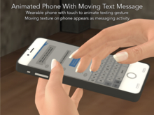 Animated Texting Cell Phone With Moving Message Screen!