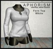 !APHORISM! - Fern Top - White