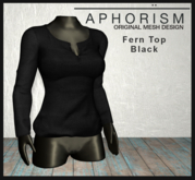 !APHORISM! - Fern Top - Black