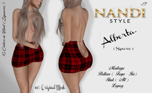 [Nandi Style] - Bag Demo Skirt Alberta Squares