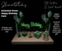 Slinvitations Animated Green Chocolate Happy Birthday Card