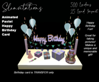Slinvitations Animated Pastel Happy Birthday Card