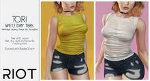RIOT / Tori Rolled-Sleeve Tee - Fatpack | Maitreya / Belleza / Slink / Legacy