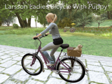 Lovely Ladies Bike with Basket and Puppy!