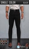 {COLD-ASH} Mens ALESSIO Trousers (SingleColor-Black)