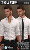 {COLD-ASH} Mens RAPHAEL Shirt (Single-White)
