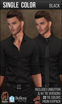 {COLD-ASH} Mens RAPHAEL Shirt (Single-Black)