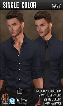 {COLD-ASH} Mens RAPHAEL Shirt (Single-Navy)