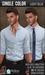 {COLD-ASH} Mens RAPHAEL Shirt (Single-LightBlue)