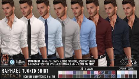 {COLD-ASH} Mens RAPHAEL Shirt - FATPACK