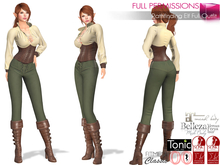 SAVE! 3in1 Full Perm Pathfinding Elf Full Outfit Boots Pants Top For Maitreya Slink Belleza Tonic Ocacin