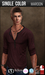 {COLD-ASH} Mens MESH REECE Henley Shirt (MAROON)