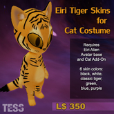 Eiri - Tiger Skins for Cat Costume
