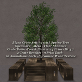 Blynn Crate Setting with Spring Tree Sycamore