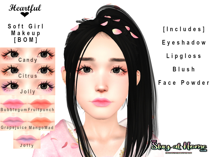 Heartful. Soft Girl Makeup Set [BOM] [Stay at Home Club]