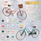 brocante. beach cruiser gacha / black