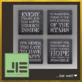 "NEW ➛ ♥ FREEBIE During Coronavirus to De-Stress ♥ Wisdom Wall Art - ""Signs of Hope"" (Set) - Mesh - C/M (Wear to Unpack)"