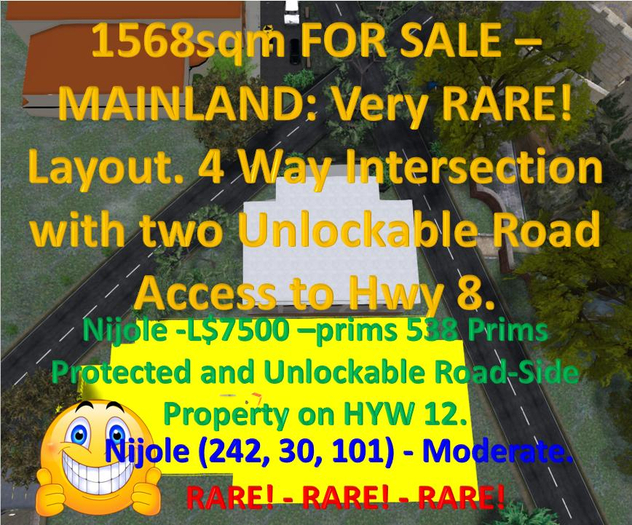 1568sqm Unblockable Rare Land Layout with Road Access- for Sale