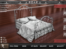 {::ROAR::} Full Perm Mesh Vintage Detailed Wrought Iron Bed