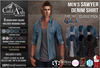 {COLD-ASH} Mens MESH SAWYER Denim Shirt (CLASSIC PACK)