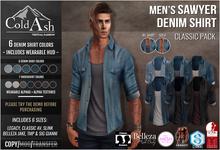 {COLD-ASH} Mens MESH SAWYER Denim Shirt (CLASSIC PACK)