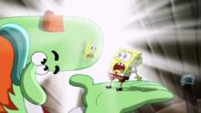 Spongebob Squarepants Bald Gesture