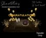 Slinvitations Animated Gold Congratulations Card